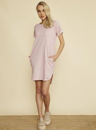 Světle růžové šaty ZOOT Baseline Mandy