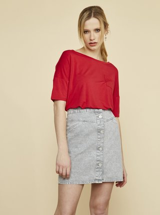 Červené dámske voľné tričko ZOOT Baseline Sarai