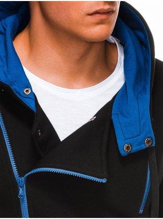 Pánská mikina na zip s kapucí B297 - černá