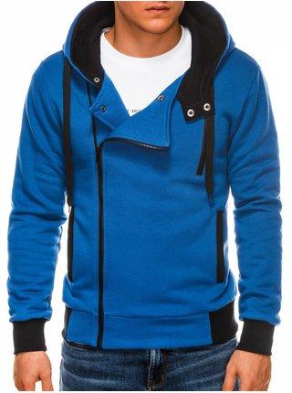 Pánská mikina na zip s kapucí B297 - modrá