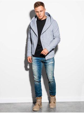 Pánská mikina na zip s kapucí PRIMO - šedá