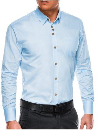 Pánská elegantní košile s dlouhým rukávem K302 - blankytná