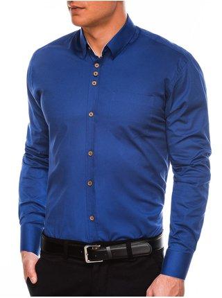 Pánská elegantní košile s dlouhým rukávem K302 - světle námořnická