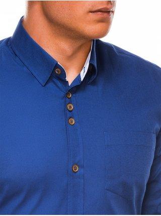 Pánska elegantná košeľa s dlhým rukávom K302 - svetlo námornícka