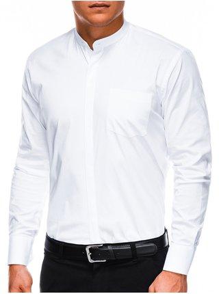 Pánská elegantní košile s dlouhým rukávem K307 - bílá