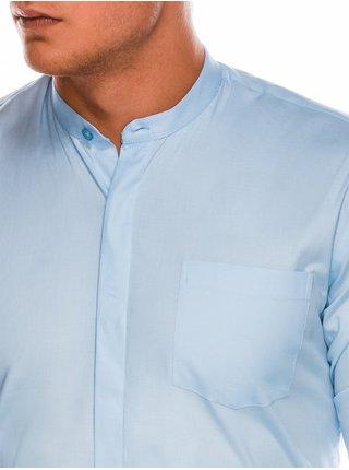 Pánská elegantní košile s dlouhým rukávem K307 - blankytná