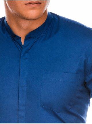 Pánská elegantní košile s dlouhým rukávem K307 - světle námořnická