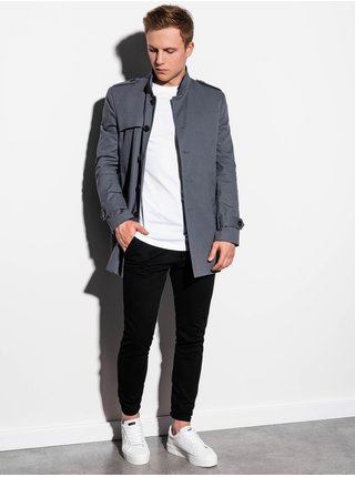 Jarní kabát C269 - šedý