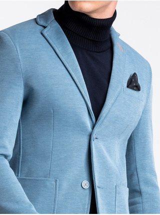 Pánské casual sako M80 - nebesky modré