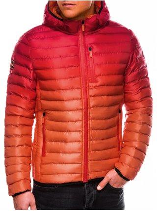 Pánská jarní bunda C319 - červená
