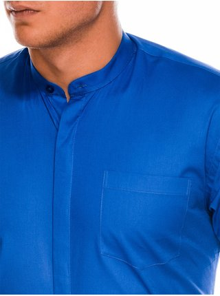 Pánska elegantná košeľa s dlhým rukávom K307 - nebesko modrá