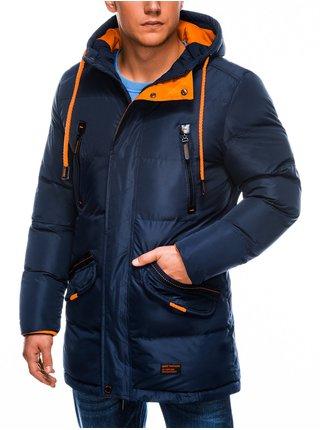 Pánská zimní prošívaná bunda C383 - námořnická