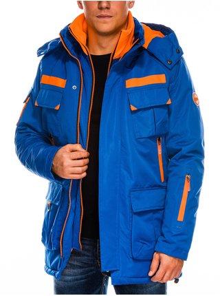 Pánská zimní bunda C379 - nebesky modrá