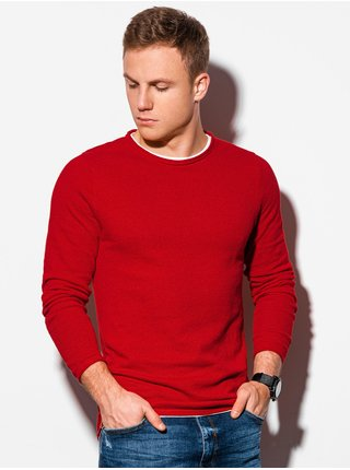 Pánský svetr E121 - červený