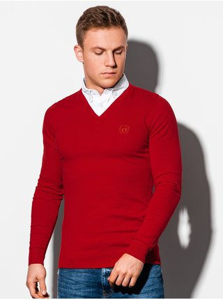 Pánský svetr E120 - červený
