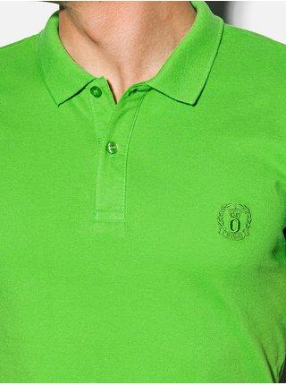Pánská polokošile bez potisku S1048 - zelená
