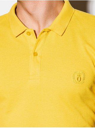 Pánská polokošile bez potisku S1048 - žlutá