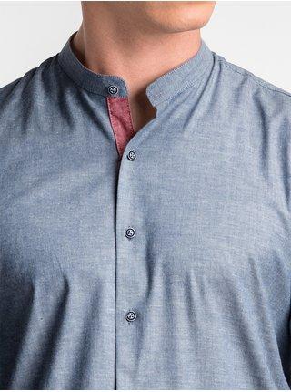 Pánská košile s dlouhým rukávem K488 - námořnická