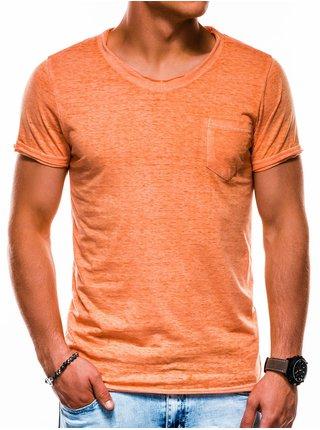 Pánské tričko bez potisku S1051 - oranžové