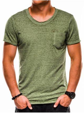 Pánské tričko bez potisku S1051 - zelené