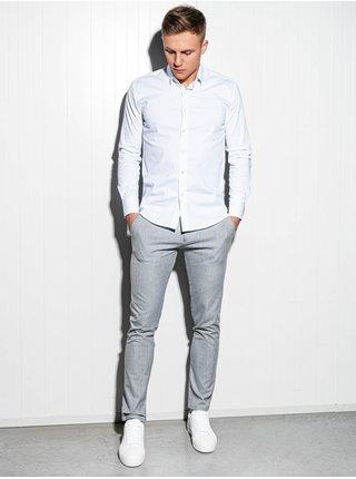 Pánská slim-fit košile s dlouhým rukávem K504 - bílá
