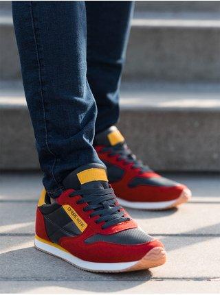 Pánské sneakers boty T310 - červené