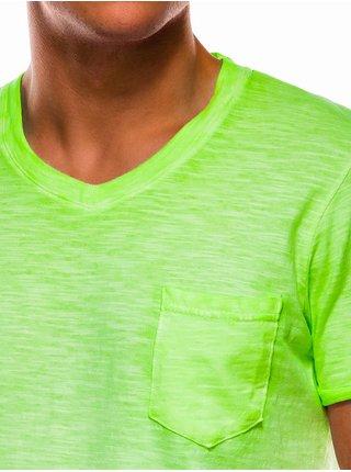 Pánské tričko bez potisku S1053 - zelené