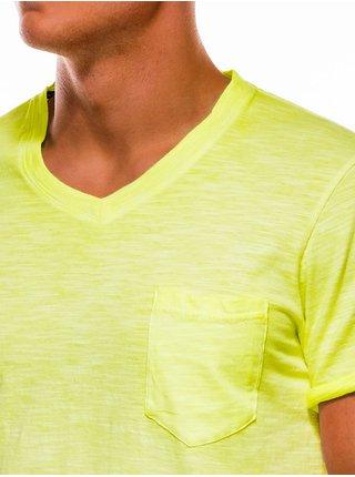 Pánské tričko bez potisku S1053 - žluté