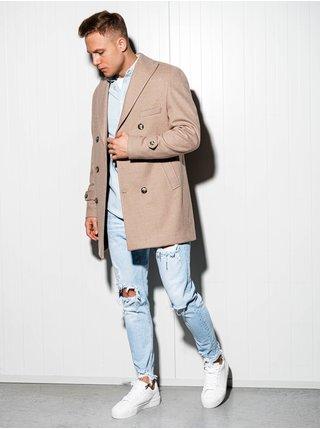 Pánský kabát oversize C429 - béžový