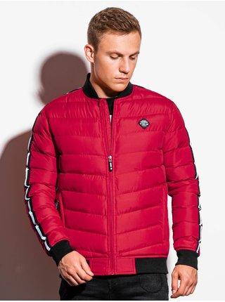 Pánská jarní bunda C416 - červená