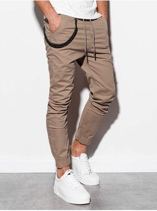 Pánské jogger kalhoty P908 - béžové