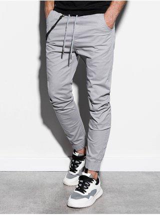 Pánské jogger kalhoty P908 - světle šedé