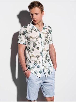 Pánská košile s krátkým rukávem K547 - ecru