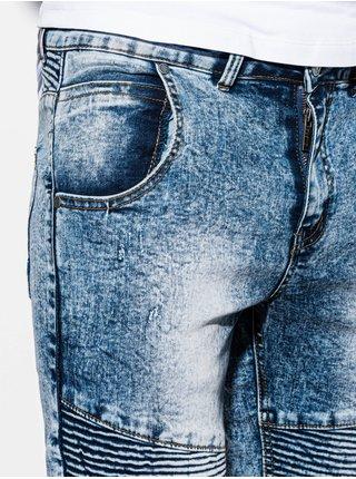 Pánské džínové kraťasy W056 - modré