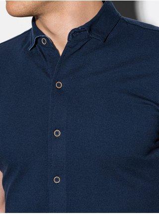 Pánska košeľa s krátkym rukávom K541 - námornícka