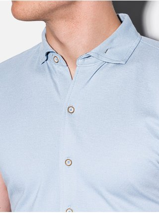 Pánská košile s krátkým rukávem K541 - nebesky modrá