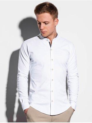 Pánská košile s dlouhým rukávem K542 - bílá