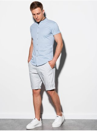 Pánská košile s krátkým rukávem K543 - nebesky modrá