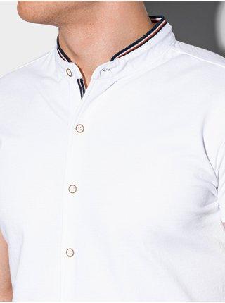 Pánská košile s krátkým rukávem K543 - bílá