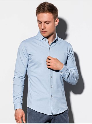 Pánská košile s dlouhým rukávem K540 - nebesky modrá