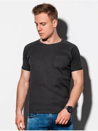 Pánské tričko bez potisku S1182 - černá