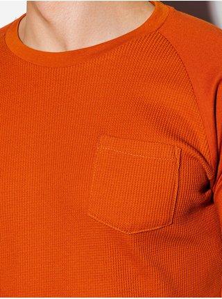 Pánské tričko bez potisku S1182 - cihlová