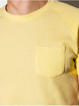 Pánské tričko bez potisku S1182 - žlutá