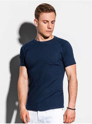 Pánské tričko bez potisku S1182 - námořnická