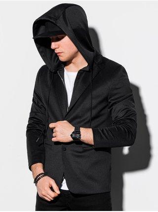 Pánske casual sako s kapucňou M156 - čierna