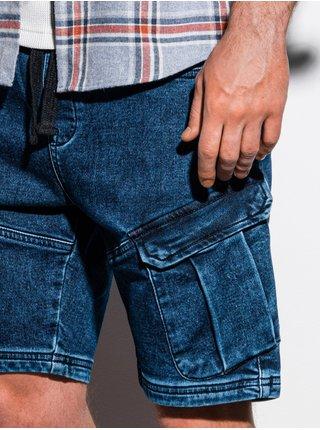 Pánské riflové kraťasy W220 - tmavě džínová