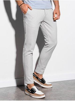 Pánské chinos kalhoty P891 - světle šedá