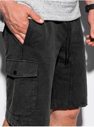 Pánské teplákové kraťasy W225 - černá