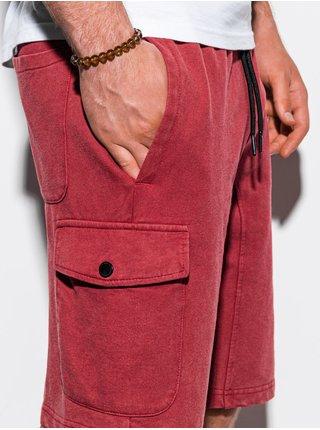 Pánské teplákové kraťasy W225 - červená