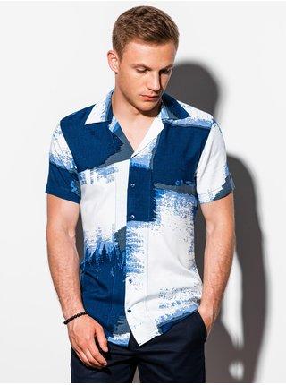 Pánská košile s krátkým rukávem K554 - nebesky modrá